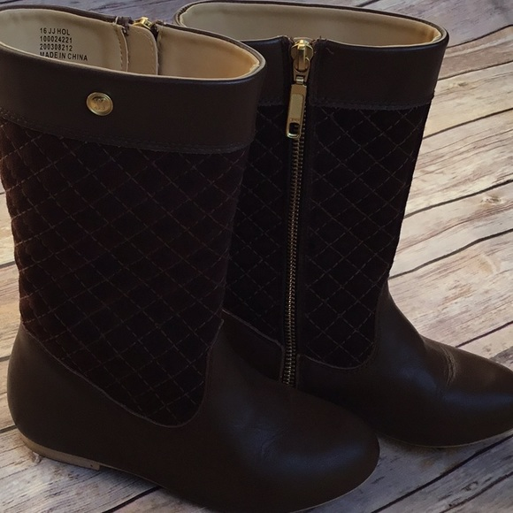 75% off Janie and Jack Other - Janie & Jack brown quilted riding ... : brown quilted riding boots - Adamdwight.com